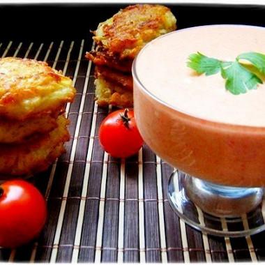 Рецепт Мусс иззапеченных овощей скартофельными оладьями
