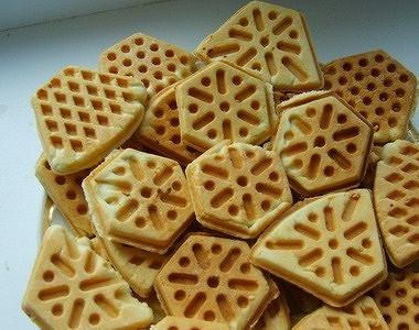 Рецепт Вафельное печенье