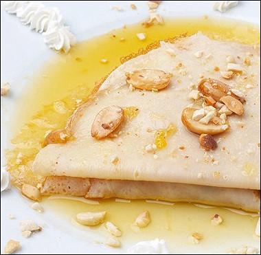 Рецепт Блинчики смедом илисахаром