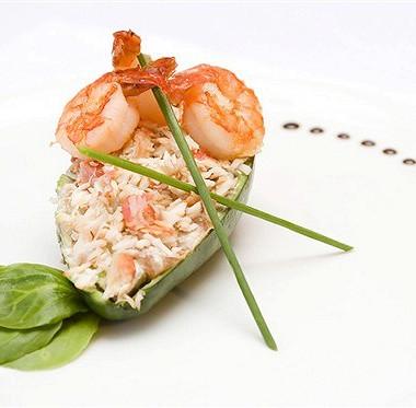 Рецепт Авокадо сананасом икреветками