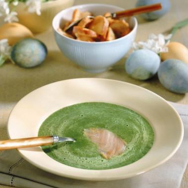 Рецепт Суп-пюре гороховый скопченым палтусом