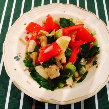 Рецепт Быстрый салат измаринованных артишоков