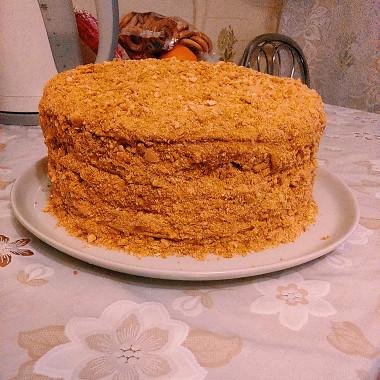 Рецепт Медовый торт скремом избананов ивареной сгущенкой
