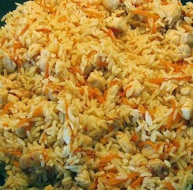 приготовить плов из курицы в сковороде