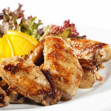 Рецепт Куриные грудки сапельсиновым мармеладом икрасным вином