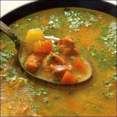 Рецепт Суп избаранины «Пити» сшафраном имятой