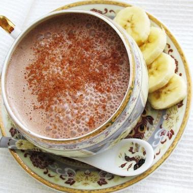 Рецепт Шоколадно-банановый коктейль смедом