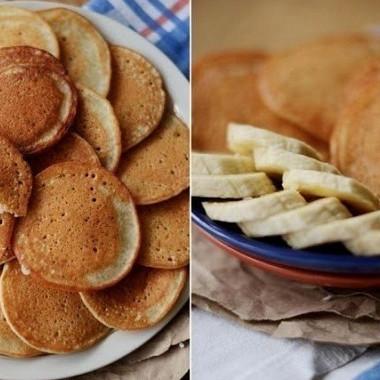 Рецепт Тонкие банановые панкейки скорицей безмасла