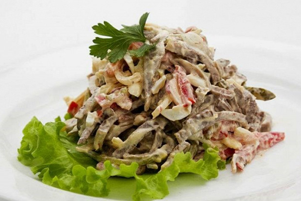 вкусный салат из языка рецепт