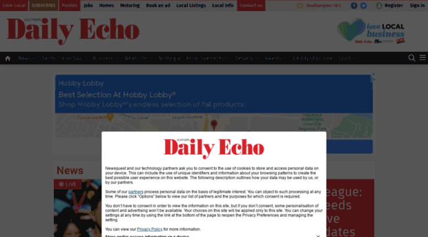 Daily echo dating