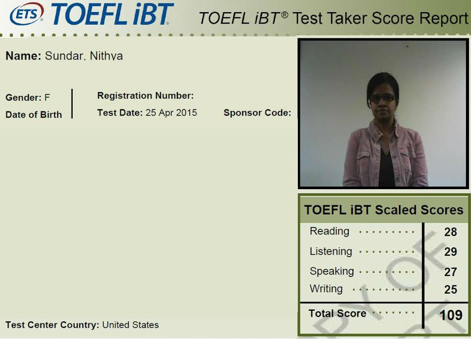 TOEFL iBT: Scores - Educational Testing Service