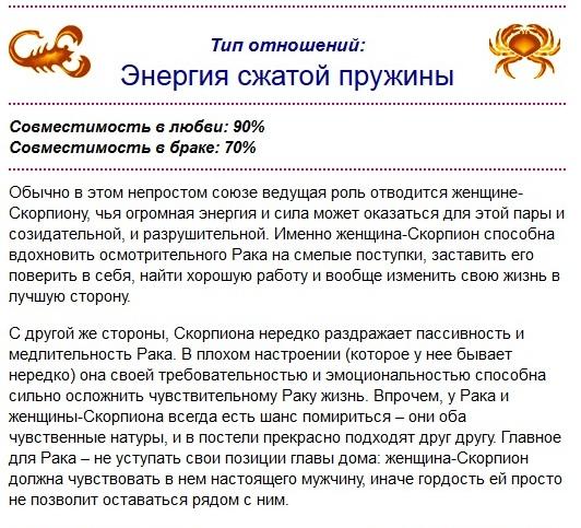 Гороскоп совместимости скорпион женщи  и мужчи  телец совместимость
