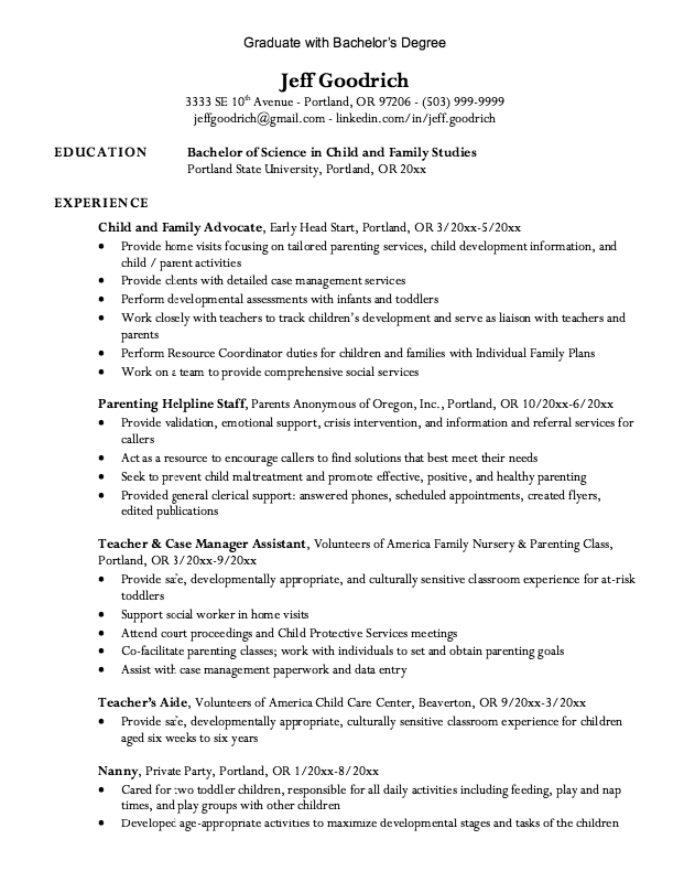 Write my graduate school admission resume