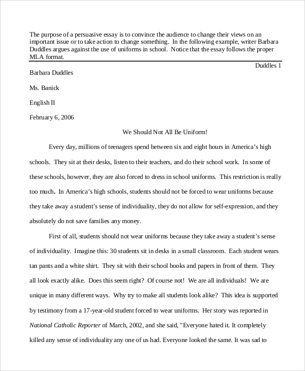 Persuasive Essays Examples For High School High School  Personal  Persuasive Essays Example Exolgbabogadosco  Persuasive Essays Examples For High  School