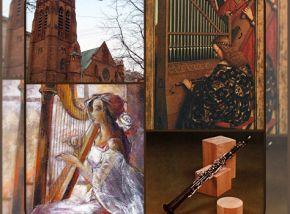 Юрий Таштамиров (саксофон), Айдана Карашева (арфа), Игорь Гольденберг (орган)