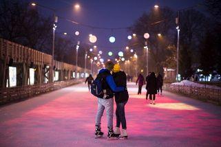 Стереокаток в Парке Горького. Новый год. (Вечер + ночь)